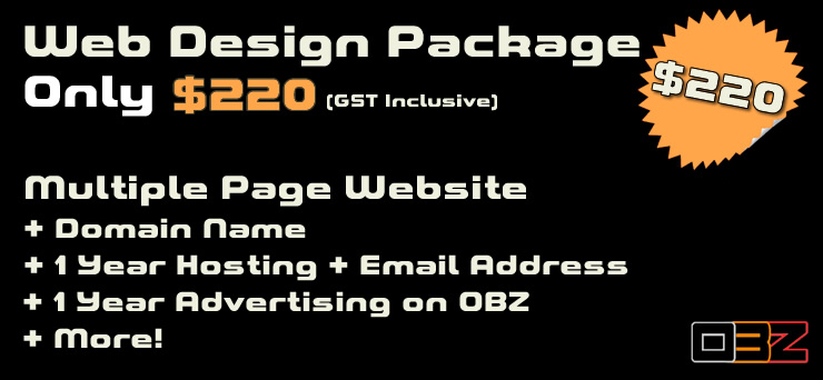 Website Design Package $220 OBZ-Online Business Zone