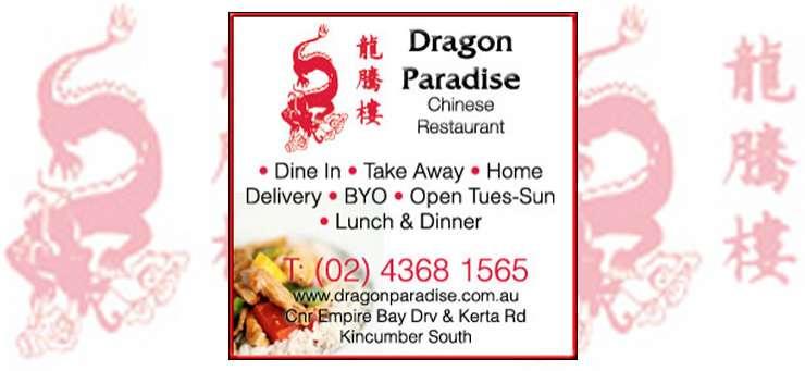 Dragon Paradise Chinese Kincumber Central Coast Region - NSW   OBZ