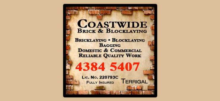 Coastwide Brick & Blocklaying Terrigal Central Coast Region - NSW | OBZ