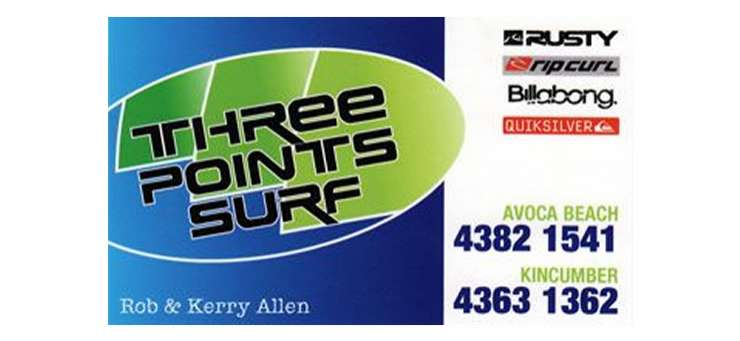 Three Points Surf Shop Avoca Beach Central Coast Region - NSW | OBZ